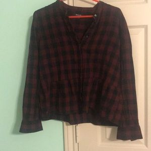 Lakeside Plaid peplum Madewell button down